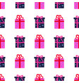 presen gift boxes seamless pattern vector image