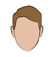 profile man male avatar face vector image