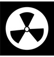 radioactivity sign icon vector image vector image