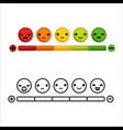 rating feedback emotion scale cartoon design vector image vector image