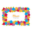 rectangular wreath of different blossoms vector image