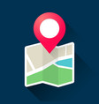 roadmap with pin pointer gps navigation map icon vector image