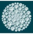 Round decorative diamond composition vector image vector image