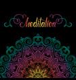 round mandala border-13 vector image vector image