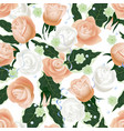 seamless pattern background with bridal flowers vector image