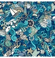 Seamless pattern sealife and marine vector image vector image