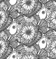 seamless pattern with beautiful hand drawn fishes vector image vector image