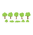 set abstract stylized trees vector image vector image