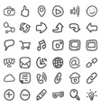 set of hand draw social icons vector image vector image