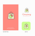 shopping bag company logo app icon and splash vector image vector image