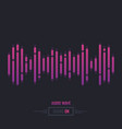 sound wave audio vector image vector image