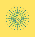 summer beach sea shell icon design in line art vector image