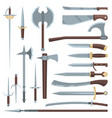 sword medieval ancient weapon of knight vector image vector image