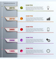 Time line info graphic with colored tabs design vector image vector image