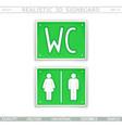 Toilet wc information signboard vector image