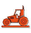 tractor sideview icon image vector image vector image
