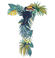 Tropical floral summer pattern hand drawn vector image vector image