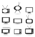 TV an icon vector image vector image