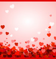 valentines day background with hearts romantic vector image vector image