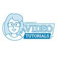 video tutorials icon symbol or emblem vector image vector image