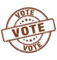vote brown grunge round vintage rubber stamp vector image vector image