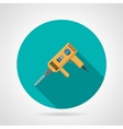 Yellow drill flat icon