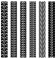 Collection tire tracks Set of 6 pieces vector image