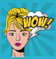 woman pop art vector image