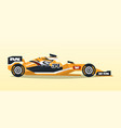 a racing bolid sport car quick transport vector image vector image