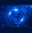 abstract blue technology concept background vector image