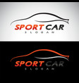 abstract car sport racing logo template vector image vector image