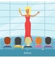 Actress Superstar Women in Front of Audience vector image vector image