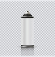 aerosol can with empty label realistic vector image vector image