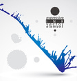 Artistic bright abstract dirty ink template vector image vector image