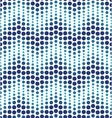 Blue geometrical circle pattern vector image vector image