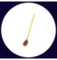 Broom computer symbol vector image vector image