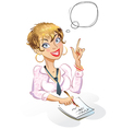 Businesswoman Thought bubble vector image vector image