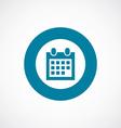 calendar icon bold blue circle border vector image
