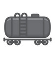 cistern oil train filled outline icon logistic vector image vector image