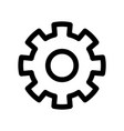 cog wheel icon symbol of settings or gear vector image vector image