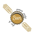 Color vintage beer brewery emblem vector image