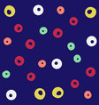 colorful circle blue pattern background ima vector image vector image