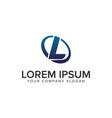 creative modern letter l logo design concept vector image vector image