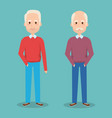 cute grandfathers avatars characters vector image vector image