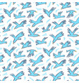 doodle birds seamless pattern background with vector image vector image