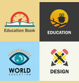 education logo set vector image