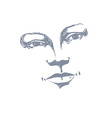Facial expression hand-drawn of face of a girl wit vector image vector image