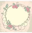 Floral doodle frame with space for text