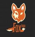 fox logo 2 vector image