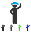 gentleman assurance flat icon vector image vector image